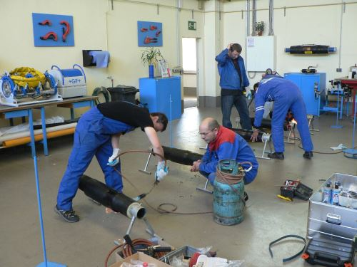 Training for pre-insulated piping assembly workers
